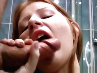 Big Jugs Ginger-haired Mummy Penetrated In The Bathroom