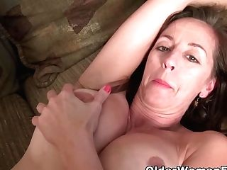 Buxom Cougar Tricia Taunts You With Her Inviting Cunt