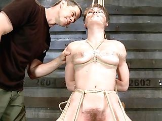 Hot Bitch In Restrain Bondage Rails Sybian Saddle
