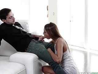 Wild Mommy Rachael Cavalli Gives A Blow-job To Her Stepson And Loves Spying On Him And His Gf