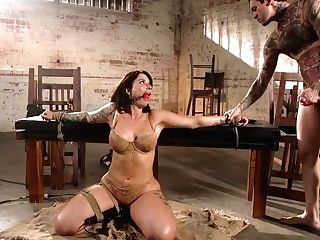 Curvy Cougar Ivy Lebelle Is Face Fucked Before A Rough Anal Intercourse