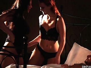 Romantic 3 Ways Fuck-fest With Gorgeous Honey Simony Diamond