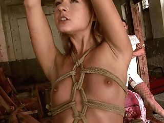 Outworn Out Blondie Gets Her Bandaged Figure Caressed With Fuck-fest Gear In Sadism & Masochism Vid