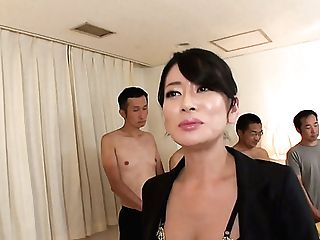 Sexperienced Japanese Bitch Is Able To Serve A Shit Blast Of Dicks