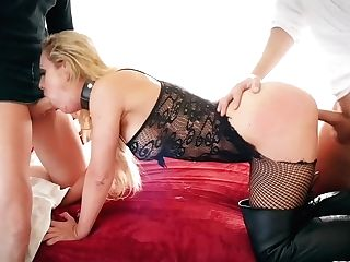 Jaw Ripping Off Mummy With Purrfectly Shaped Figure Cherie Deville Is Fucked By Two Dudes