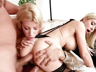Lara De Santis And Her Blonde All Girl Friend Can Not Stop Eating Each Other's Ideal Fuckbox