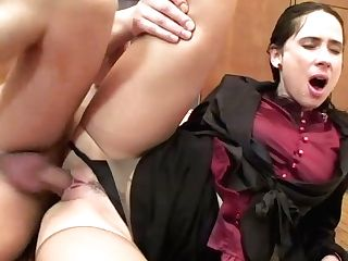 Hook-up Starved Dark-haired Skank Gets Fucked From Behind