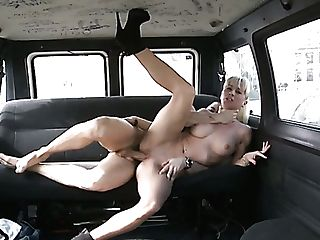 Thirsty Man Fucks Long-legged Ash-blonde Harlot Angelica Castro In His Car Hard