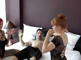 Behind-the-scenes 3some Anna Belle Peaks, Penny Pax & Alex Legend Part Trio