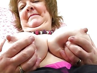 Brit Granny Susan Feeds Her Greedy Cunt With Fuck Stick